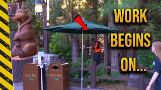 Disneyland Construction | CAUGHT in action at Redwood Creek!