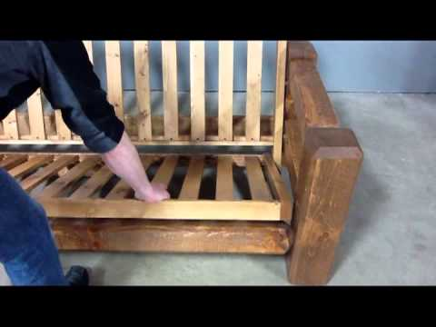 Viking Log Furniture Barnwood Futon Embly