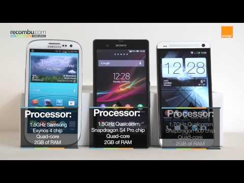 Samsung Galaxy S3 LTE VS Sony Xperia Z VS HTC One