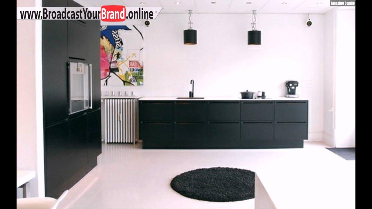 schwarz weiße küche skandinavisch einrichten - youtube