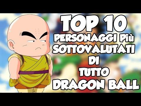 TOP 10 PERSONAGGI più SOTTOVALUTATI DI TUTTO DRAGON BALL