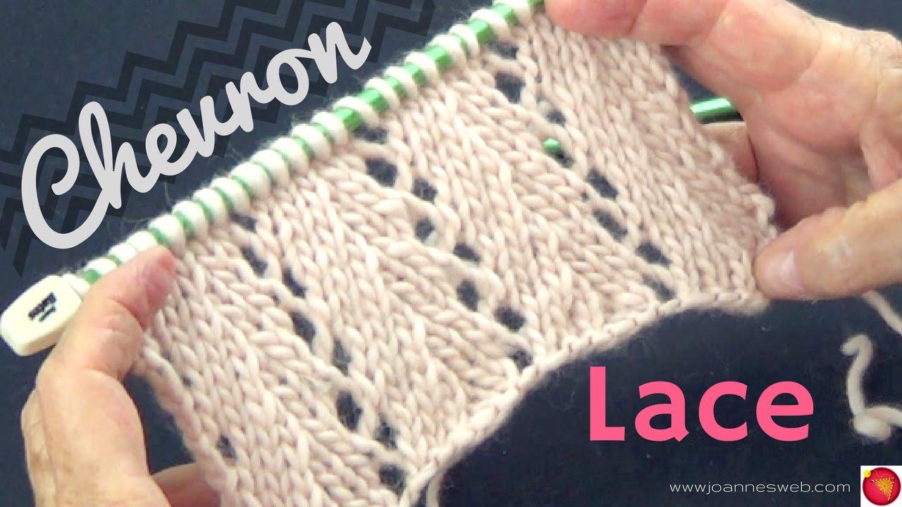 Chevron Lace Knit Stitch - YouTube