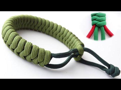 Make A Flat 4 Strand Mad Max Style Snake Knot Paracord Survival Bracelet - CBYS