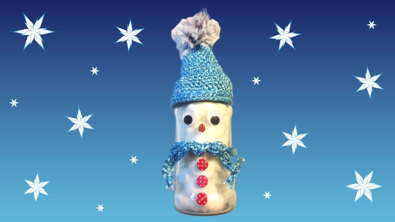 Mutsje Haken Voor Een Sneeuwpop Van Een Pot Met Watten Youtube