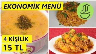 EKONOMİK MENÜ  - 15 TL - Fasulye Çorbası - Kıymalı Patates - Bulgur Pilavı
