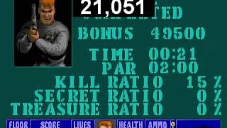 Wolfenstein 3D Escape from Castle Wolfenstein 2 speedrun Any% in 21 sec. by Tiref