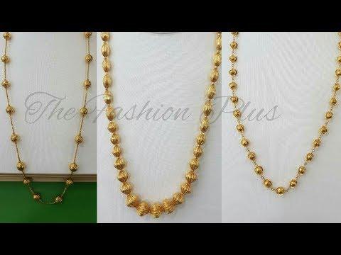 Gold Chain Mala Designs  Gold Chain Necklaces Designs