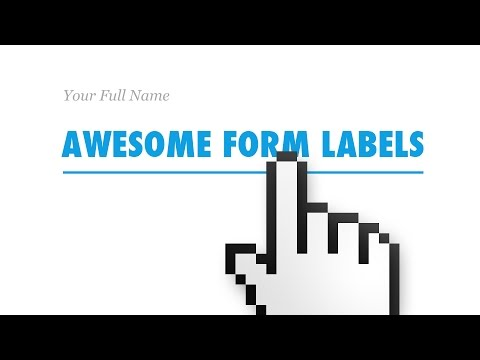 Awesome Form Labels