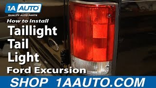 how to install replace taillight tail light 2000 05 ford excursion 95 12 e150 e250 e350 van