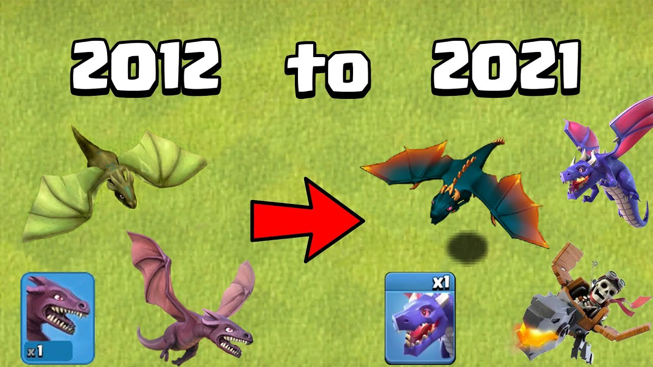 The EVOLUTION of the DRAGON from 2012 to 2021 | Clash of Clans