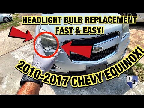 HOW TO REPLACE HEADLIGHT BULB FAST & EASY 2010 – 2017 CHEVROLET EQUINOX – LOW BEAM LIGHT BULB