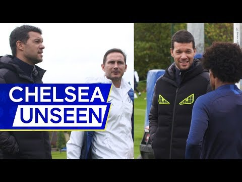 Michael Ballack returns to Chelsea training with Frank Lampard👀 | Chelsea Unseen