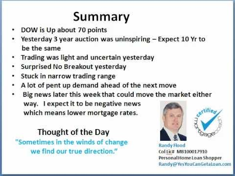 09-13-11 Colorado Mortgage Home Loan Rate Update by Randy Flood