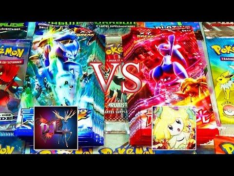 Ouverture de 20 boosters Pokémon XY8 Break  Impulsion Turbo - DavidLafargePokemon VS MissJirachi