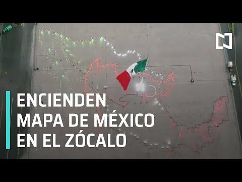 Encienden mapa de México en el Zócalo de la CDMX - Las Noticias