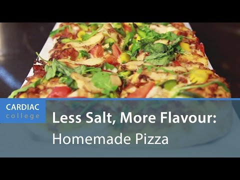 How To Make Low Sodium, Homemade Pizza: Cardiac College