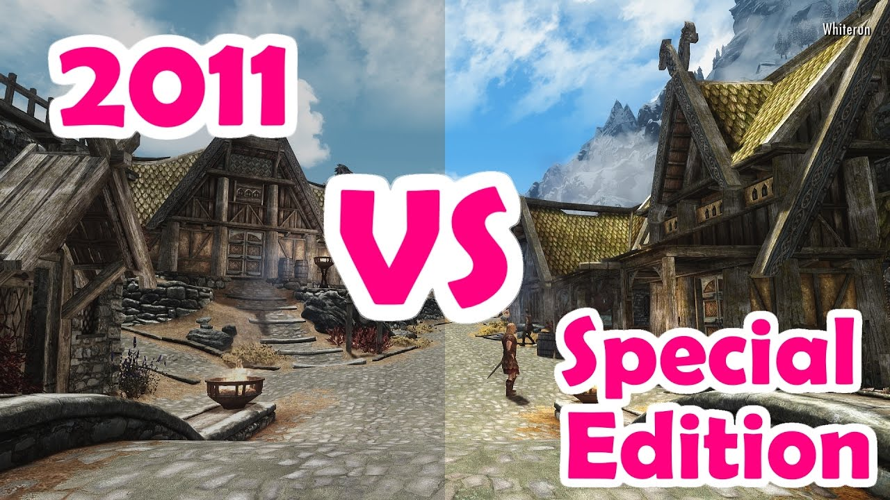 Skyrim 2011 VS Skyrim Special Edition (Graphics Comparison)