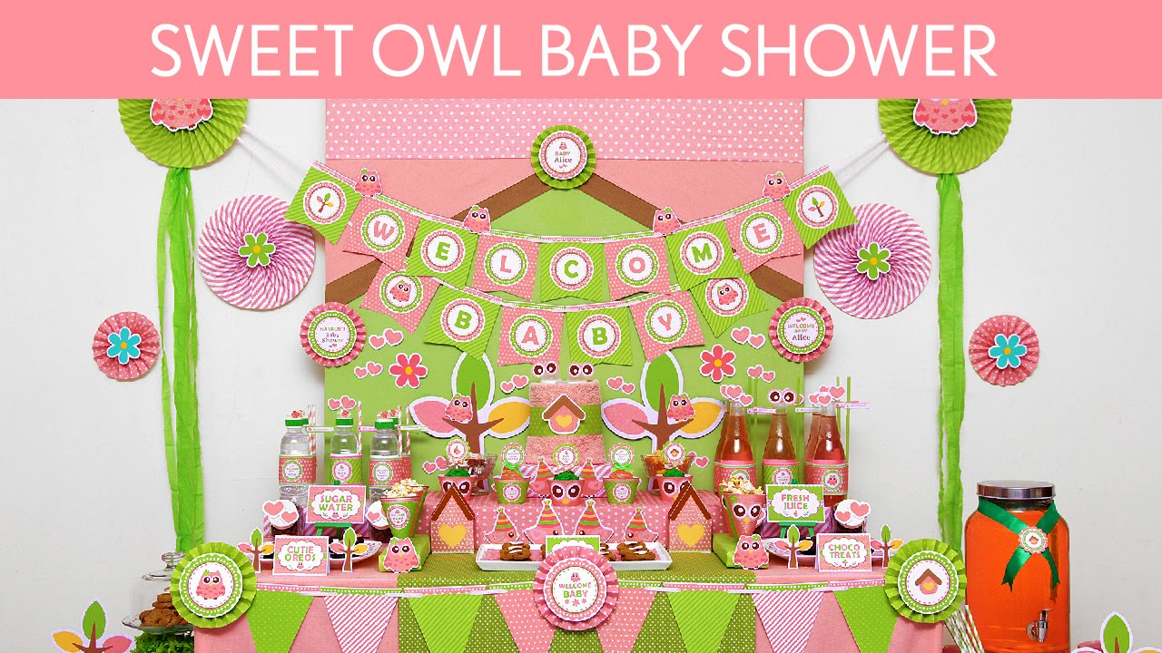 Sweet Owl Baby Shower Ideas // Sweet Owl   S41   YouTube