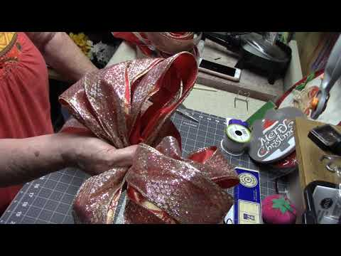 How to make a Tree topper Bow by Hand - Living Room Tree
