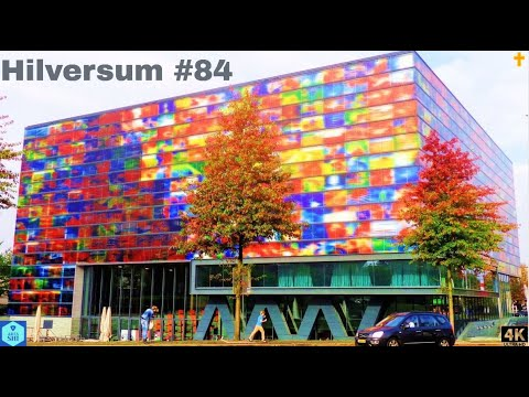 4K - Driving downtown - Hilversum City - the Netherlands 202