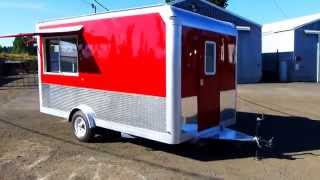 2013 Bright Red Food Trailer/cart 8×14