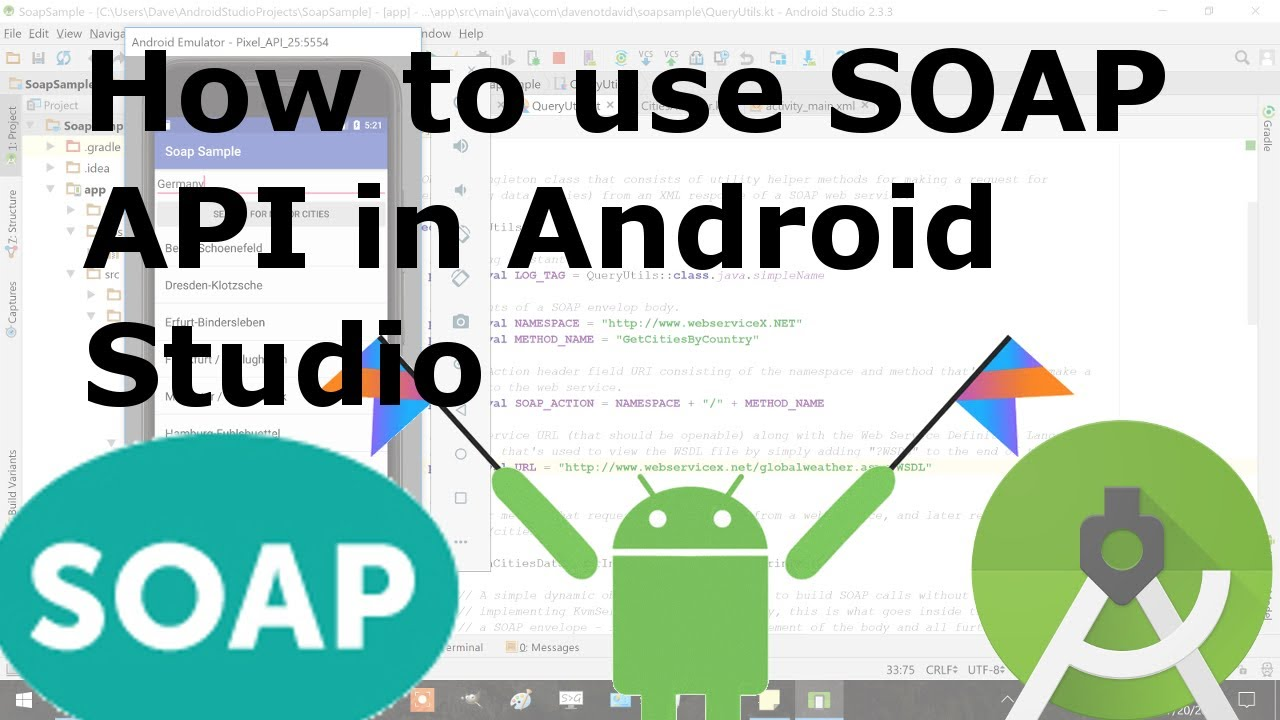 How to use SOAP API in Android Studio