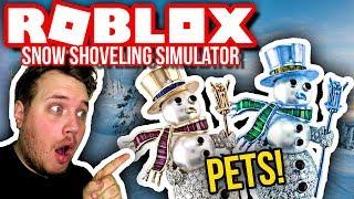 PETS: DIAMANT- OG GULD SNEMÆND! 🤑❄🤑 :: Snow Shoveling Simulator Ep. 5 - Dansk Roblox
