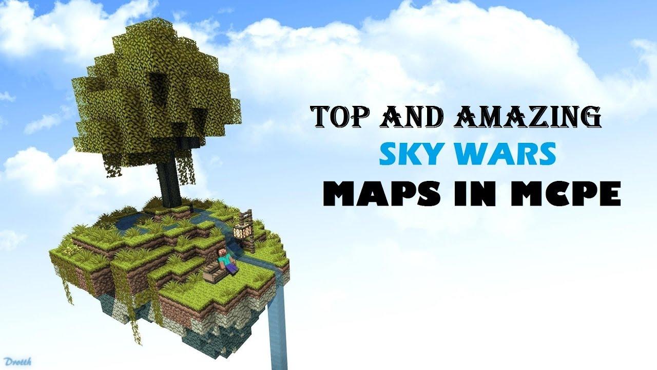 mcpe maps download skywars