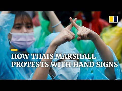 How demonstrators in Thailand marshall anti-government protests with hand signs