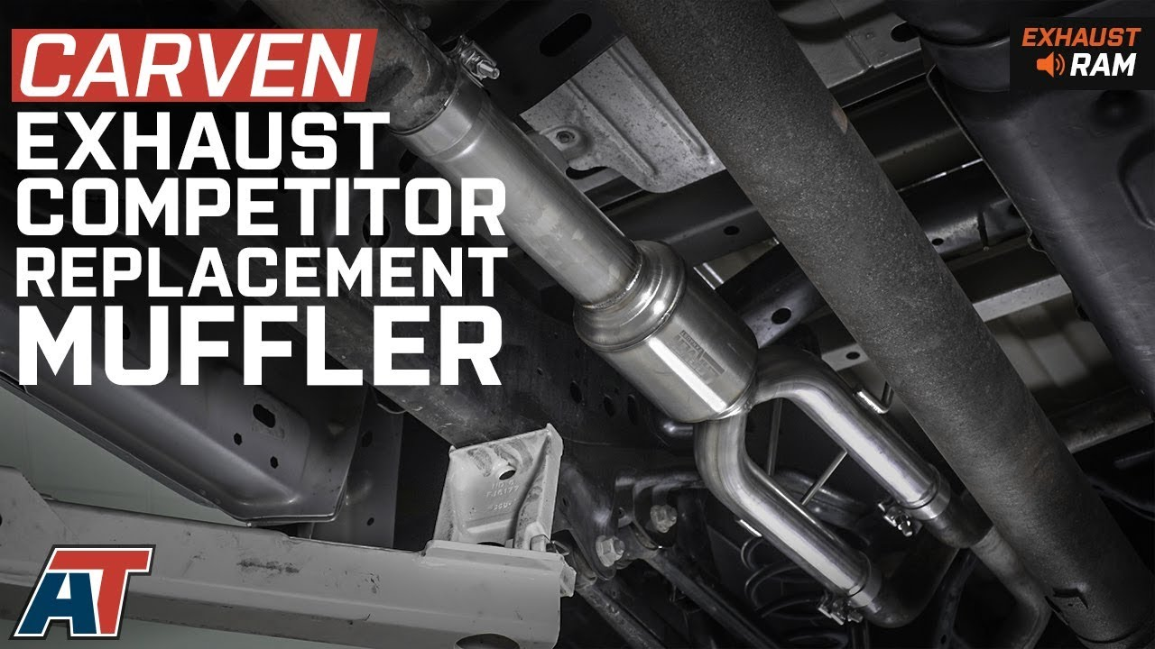 Ram 1500 Exhaust >> 2009 2018 Ram 1500 Carven Competitor Direct Replacement Muffler 5 7l Exhaust Sound Clip Install