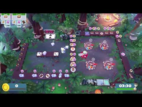 Overcooked! 2 - Getting Silver Star in Campfire Cook Off 1-1 |