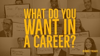 Career Advice from Young Professionals I Jobs of the Future I Connect The Ages
