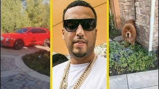 French Montana Flexing His Whips & HUGE Dog!