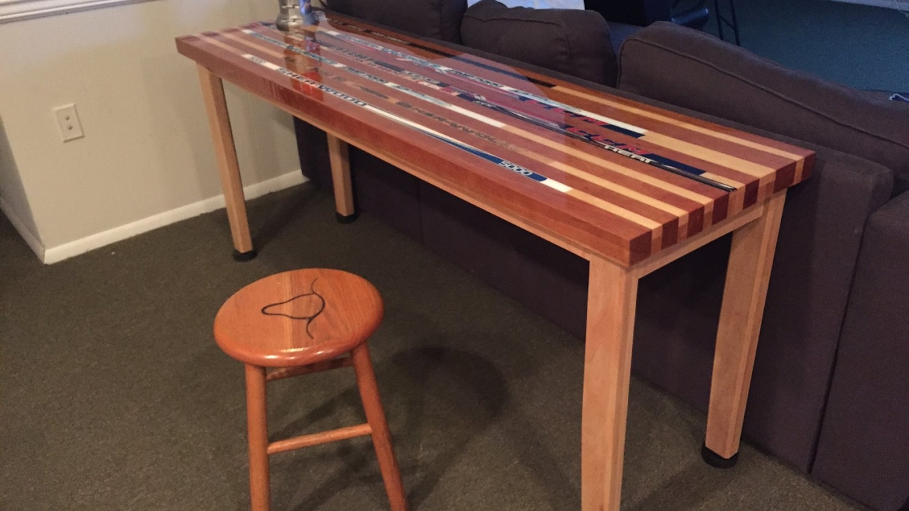 Hockey Stick Table - YouTube