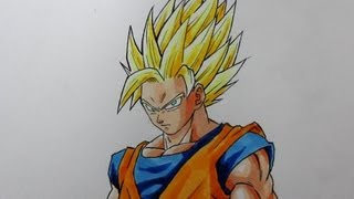 Wie zeichnet man Son Goku SSJ2  [Dragonball Z] Tutorial