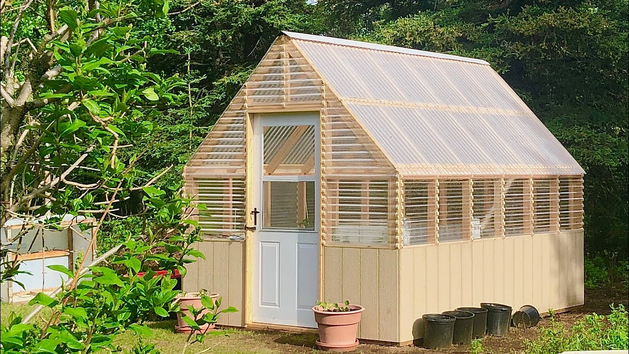 Small Gable Roof Greenhouse Ana White