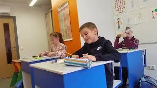 Урок математики у первого класса. Ведунок