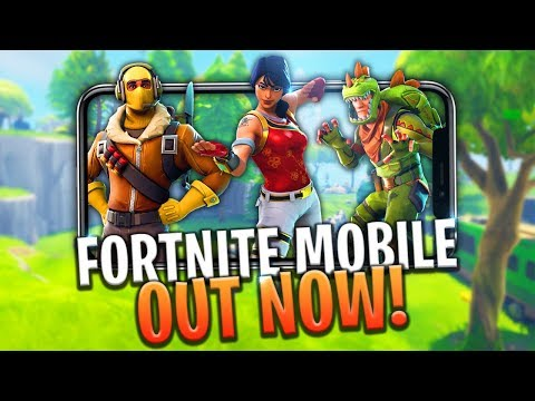 FORTNITE MOBILE OUT NOW! HOW TO DOWNLOAD & PLAY + FREE CODES! iOS/ANDROID - Fortnite: Battle Royale