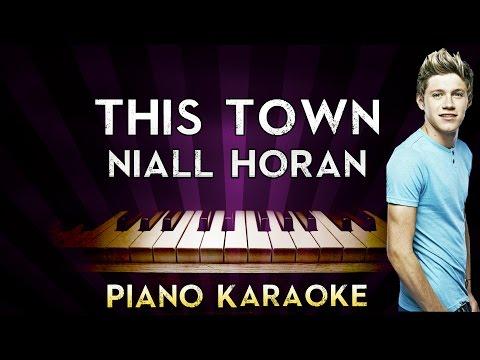 Niall Horan - This Town | HIGHER Key Piano Karaoke Instrumental Lyrics Cover Sing Along