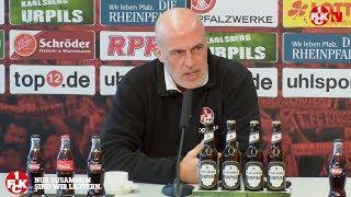 FCK-Trainer Michael Frontzeck vor dem Spiel gegen Union Berlin