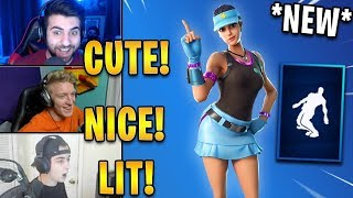 "Streamers React to *NEW* ""Volley Girl"" Skin & ""Whirlwind"" Emote! 