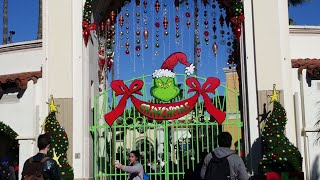 HskyArt GrinchMas Universal Front Entrance ! Studios Hollywood Holiday is Here ! HSKY 2018