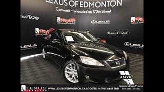 Black 2012 Lexus IS 250 Leather w/ Moonroof & Navigation Package Review Edmonton Alberta - Lexus of