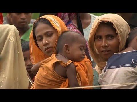 لاجئو الروهينغا ينتظرون معونات الإغاثة بمخيمهم في بنغلادش  - 22:21-2017 / 9 / 22