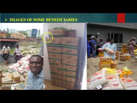 HWMG ibadan april food distribution