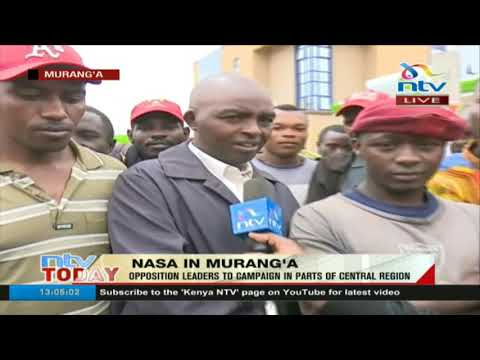 NASA heads to Murang'a and residents are ready to receive them