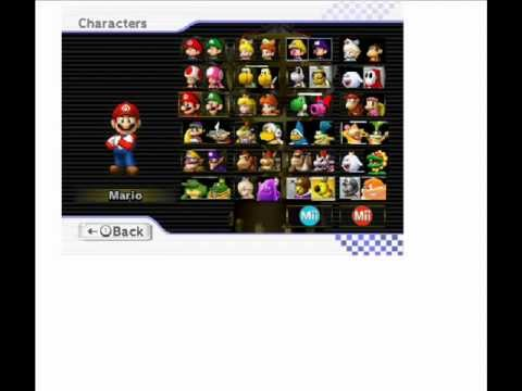 Mario Kart Wii U Roster Remake Wmv Youtube
