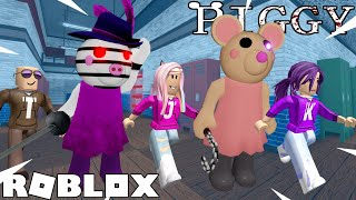 Follow the Leader Challenge on PIGGY! CAN WE ESCAPE?! / Roblox