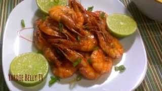 Jamaican Peppered Shrimps; Yardie Belly Style