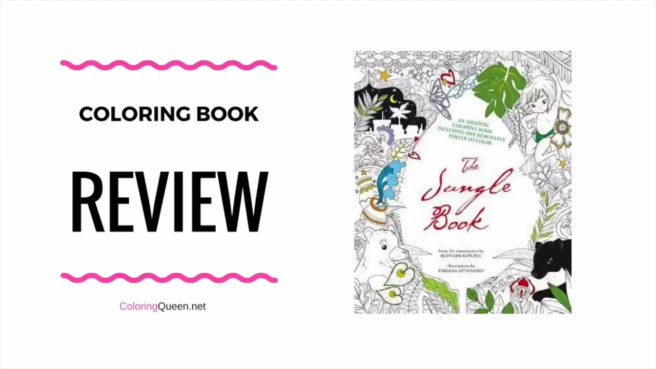 Jungle book colouring in pictures - The Jungle Book Coloring Book Review Fabiana Attanasio